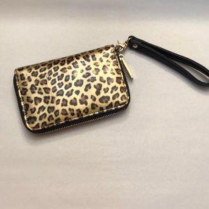 Deux Lux leopard print wristlet.  Like new.